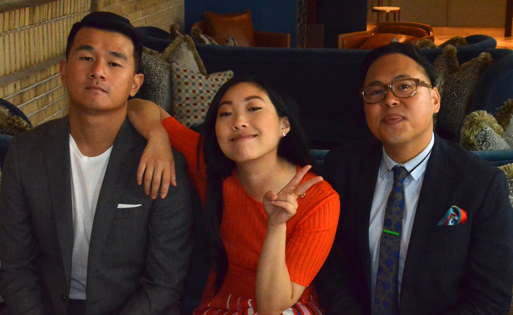 Ronny Chieng, Awkwafina, and Nico Santos from Crazy Rich Asians
