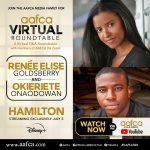 """Hamilton Stars Renée Elise Goldsberry and Okeiriete """"Oak"""" Onaowadan Dropped Into The AAFCA Roundtable"""